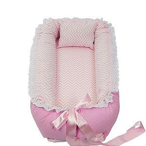 Ninho Para Bebê Rosa Chevron BabyKinha
