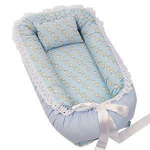Ninho Para Bebê Azul Girafinhas BabyKinha