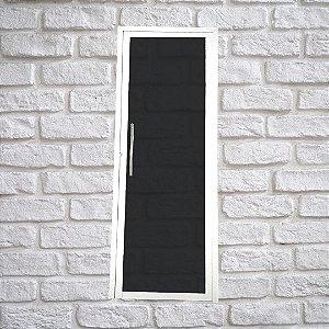 Porta Glass Branca 2,10x0,80 abertura direita - vidro temperado c/ puxador
