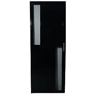 Porta Maxwell 2.0 Preta 2,10x0,80 abertura direita - vidro fumê