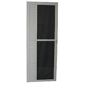 Porta Luxo Branca 210x80 Abertura Esquerda, Vidro Incolor