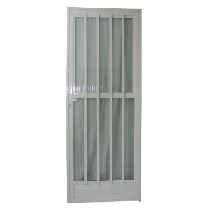 Porta Palito Branca 210x80 Abertura Direita, Vidro Incolor