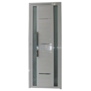Porta Sublime Branca 210x100 Abertura Direita, Vidro Fumê