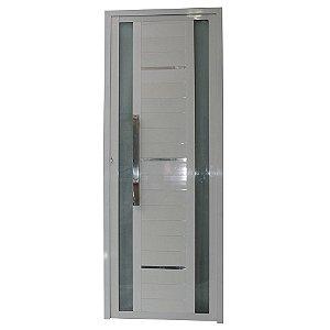 Porta Sublime Branca 210x90 Abertura Direita, Vidro Incolor