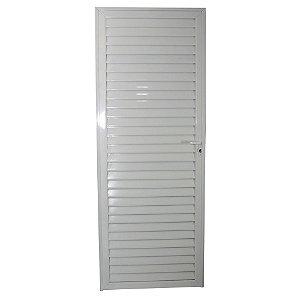 Porta Veneziana Branca 210x60 Abertura Direita