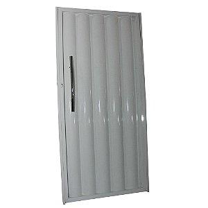 Portão de Alumínio Búzios Branco  180x80 Abertura Esquerda