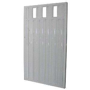 Portão Búzios com Grade Branco 180x80 Abertura Esquerda