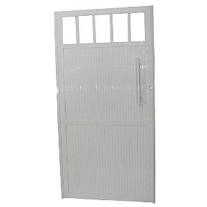 Portão Standard Branco 180x100 Abertura Esquerda Sem Puxador
