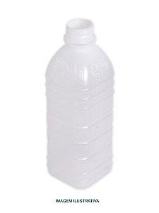 Garrafa leitosa quadrada c/ tampa 1000ml - 10 unidades