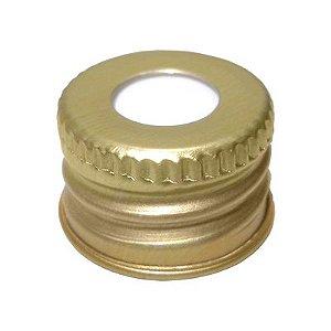 Tampa metal dourada R18 - 1 unidade