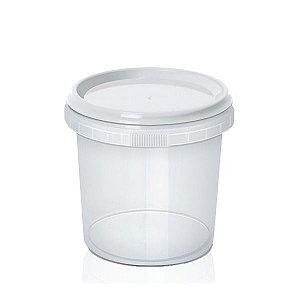 Pote Redondo Plástico com Lacre 500ml - 1 unidade