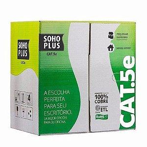 Cabo de Rede Sohoplus caixa 305m Cat.5E  Azul
