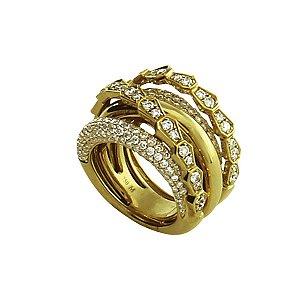 Anel em Ouro com Diamantes