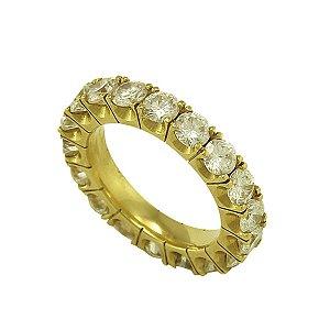 Aliança de Ouro e Diamantes (15 pts por pedra)