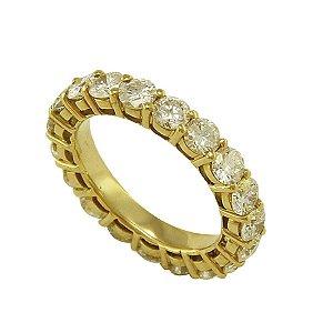 Aliança de Ouro e Diamantes (10 pts por pedra)