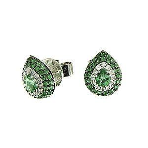 Brinco Esmeralda com Diamantes