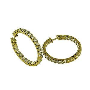 Brincos de Ouro c/ Diamantes
