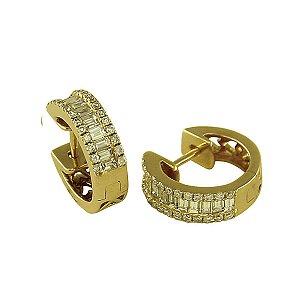 Brinco de Ouro c/ Diamantes
