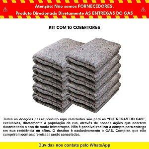 Kit com 10 Cobertores para Doação - GAS & Hyundai