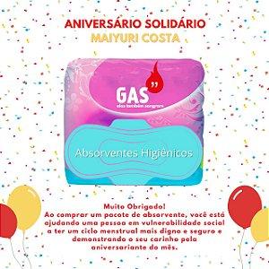 Kit Absorventes para Doação - Aniversário Solidário Maiyuri Costa