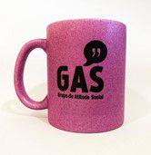 Caneca Porcelana GAS com Glitter
