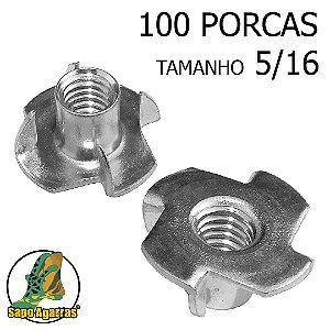 100 PORCA AGARRAS 5\16