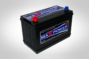 Bateria estacionária MAXPOWER 105ah caixa alta MP-1050