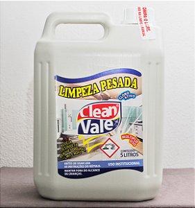 Detergente Limpeza Pesada Cloro Ativo - Clean Vale (5L)