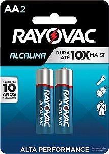 Pilha Alcalina Rayovac AA c/2