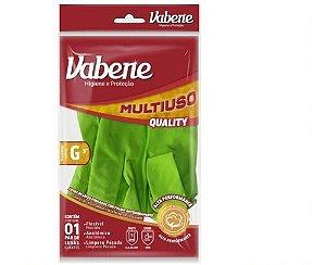 Luva Látex Multiuso Quality Forte Vabene Verde M