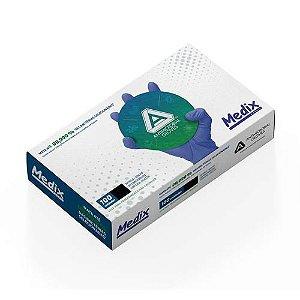 Luva Descartável Nitrílica Antimicrobiana AMG Medix c/ 100 Tam:P