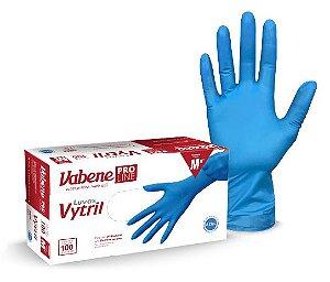 Luva Descartável Vinil e Nitrilo Vytril Vabene Azul c/100 Grande