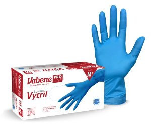 Luva Descartável Vinil e Nitrilo Vytril Vabene Azul c/100 Pequena