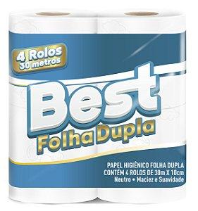 Papel Higiênico Best Folha Dupla Neutro 4x30m