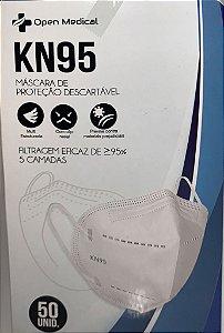 Máscara Facial Descartável KN95 Open Medical c/ 50un