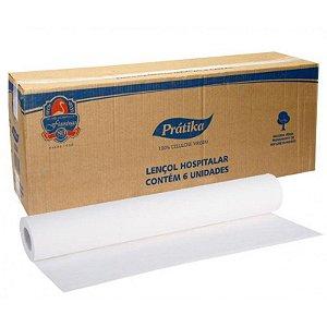 Lençol Hospitalar 100% Celulose Pratika 48cm x 50m C/6 18G