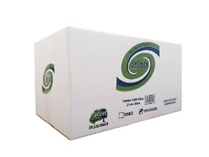 Papel Toalha Interfolhado 100% Celulose Selecto 21x20cm c/ 2400 Folhas