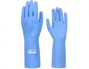 Luva Látex Multiuso Volk 30cm Azul CA: 10.695
