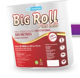 Papel Higiênico Big Roll Plus 100% Celulose 8x300m Ref.: 3028