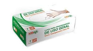 Luva Vinil Descartável s/ Pó Medix c/ 100