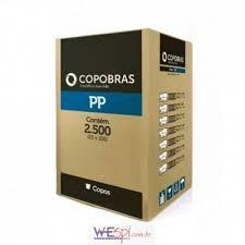 Copo Descartável Branco PP Copobras 200ml Ref.: CF-200