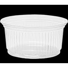 Pote Transparente Descartável PS 250ml Totalplast c/ 50un