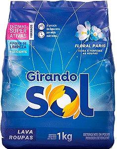 Lava Roupas em Pó Girando Sol Floral Paris 1kg