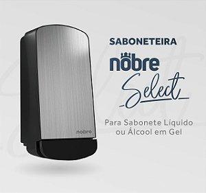 Dispenser Sabonetei/Álcool Nobre Select Frente em Inox 800ml