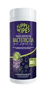 Toalha Umedecida Bactericida p/ Superfícies 20x18cm c/35un