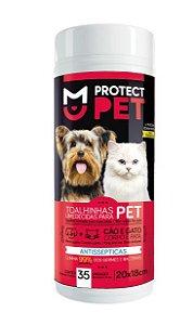 Toalha Umedecida Protect Pet Corpo e Patas 28x18cm c/35un