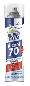 Álcool Aerossol Super Dom 70º 300ml/170g