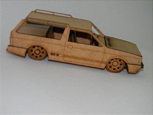 Miniatura Parati GLS em MDF - Roda Pingo/Gota