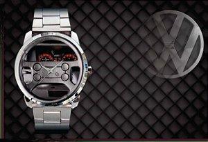 Relógio De Pulso Personalizado Painel Gol Gti Volante 4 Bola