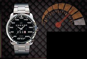 Relógio De Pulso Personalizado Painel Gol Gts 220km Quadrado